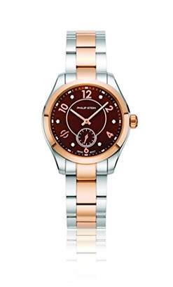 Philip Stein Teslar Women's Traveler Swiss-Quartz Watch with Two-Tone-Stainless-Steel Strap