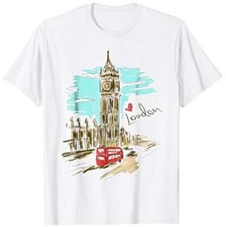 Big Ben Love London Hand Drawn Artwork Graphic T-Shirt