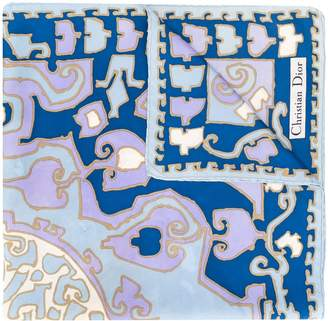 Christian Dior Pre-Owned geometric pattern scarf