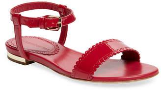Burberry Scalloped Strap Flat Sandal