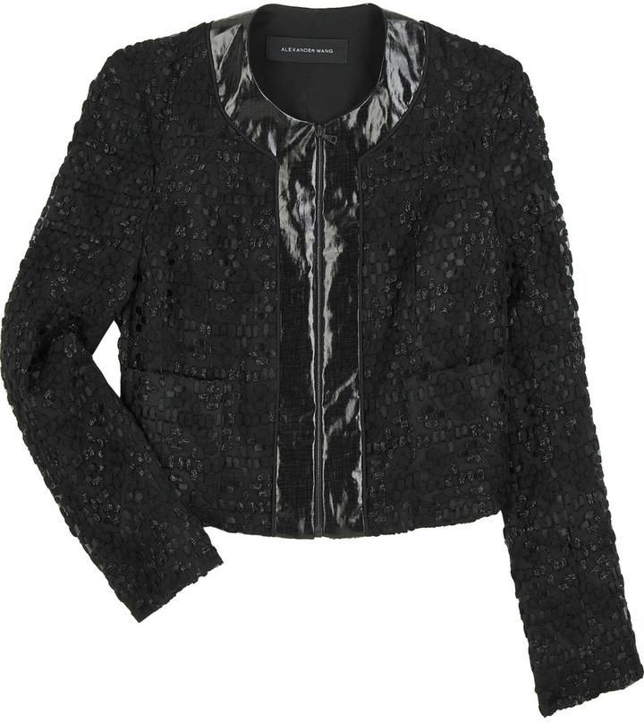 Alexander Wang Cropped organza jacket