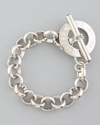 Marc by Marc Jacobs Logo Toggle Bracelet, Silvertone