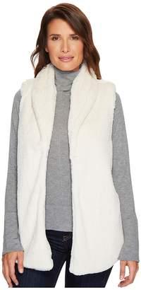 True Grit Dylan by Textured Silky Faux Fur Shawl Collar Vest Women's Vest