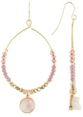 Melrose and Market Beaded Druzy Drop Earrings