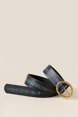 francesca's Eden Blue Stripe Belt - Black