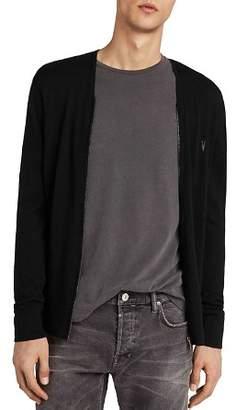 AllSaints Mode Merino Zip Cardigan