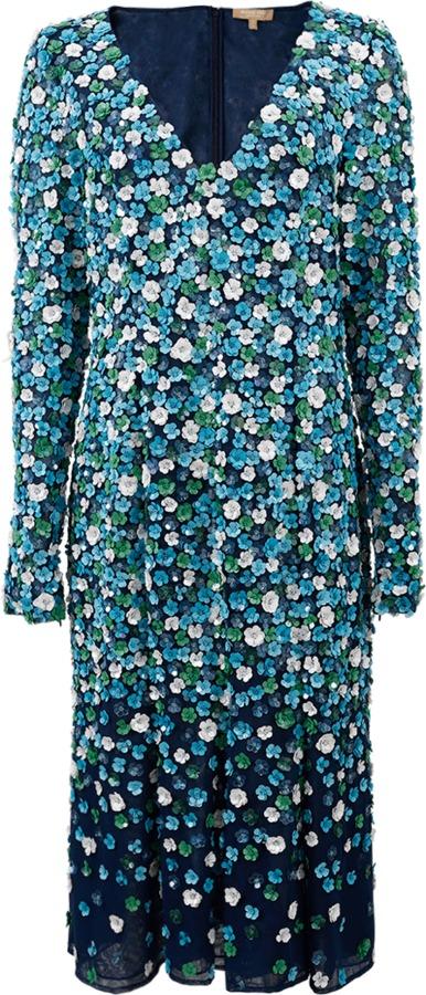 MICHAEL Michael KorsMICHAEL KORS Embroidered Plunge Floral Dress