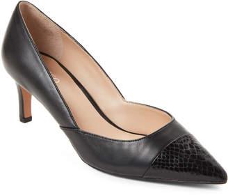 Franco Sarto Black Delight Pointed Toe Leather Pumps