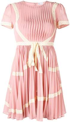 RED Valentino pleated detail fitted dress