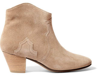 Etoile Isabel Marant Isabel Marant - étoile Dicker Suede Ankle Boots - Beige