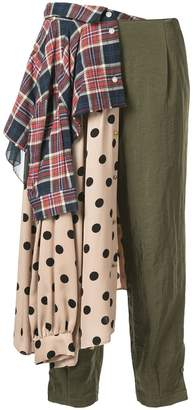 Kolor contrast panel trousers