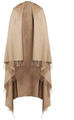 Max Mara Fringed Blanket Scarf - Womens - Camel