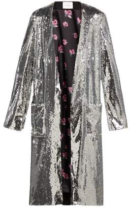 Racil Vivien Sequinned Coat - Womens - Silver