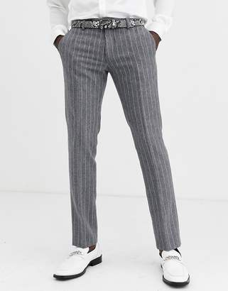 Twisted Tailor super skinny suit trousers in grey stripe