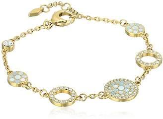 Fossil Vintage Glitz Crystal Link Bracelet