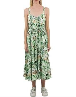 Cooper Lei Lei De Lei Sleeve Less Midi Dress