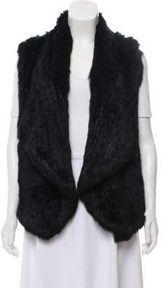 Alice + Olivia Open Fur Vest