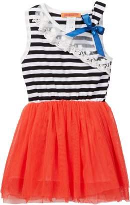 Funkyberry Mixed Media Dress (Toddler, Little Girls, & Big Girls)