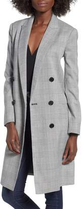 Mural Longline Glen Plaid Blazer