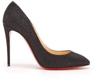Christian Louboutin Eloise 100 Glitter Pumps - Womens - Black
