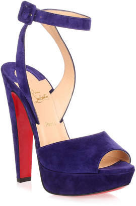Christian Louboutin Louloudancing 140 purple suede sandal