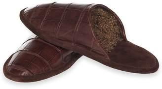 Brooks Brothers Crocodile Slippers