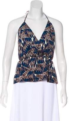 7 For All Mankind Printed Halter Top
