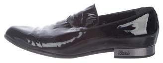 Gucci Patent-Leather Smoking Slippers