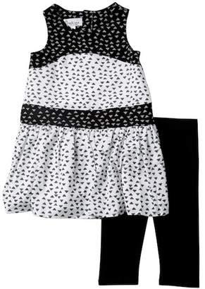 Pippa & Julie Printed Tunic & Capri Leggings Set (Toddler & Little Girls)