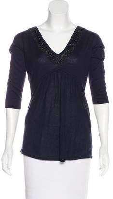 Magaschoni Silk & Cashmere-Blend Top w/ Tags