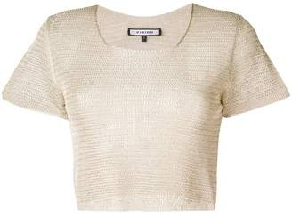 Fisico knitted short sleeve top