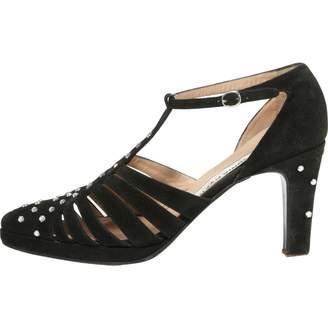 Sonia Rykiel Black Suede Heels