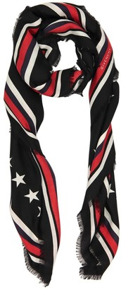 Givenchy Black Wool Scarves