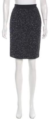 Giambattista Valli Tweed Knee-Length Skirt Black Tweed Knee-Length Skirt