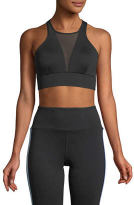 Michi Inversion High-Neck Mesh Sports Bra