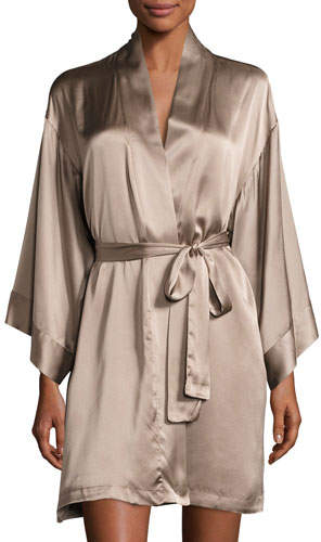 Silk Wrap Robe, Soft Mink
