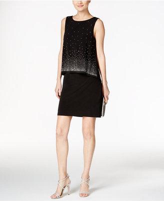 Jessica Howard Embellished Popover Sheath Dress $109 thestylecure.com