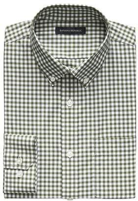 Banana Republic NEW Slim-Fit Tech-Stretch Cotton Gingham Shirt
