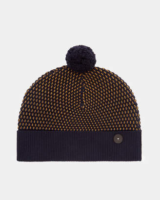 Ted Baker CANHAT Ottoman stitch wool blend beanie hat