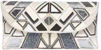 Ricki Designs Geometric Fold Over Beaded Clutch