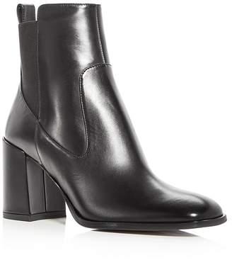 Via Spiga Woman's Delaney Leather High Heel Booties