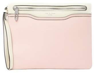 Rag & Bone Rose Dust Leather Zip Clutch