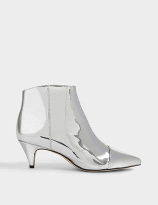 642533ecede3fa Sam Edelman Kinzey Ankle Boots in Silver Patent Leather