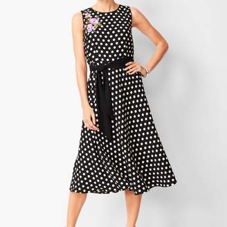 Talbots Polka Dot Fit & Flare Dress
