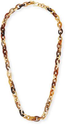 Ashley Pittman Meli Mixed Horn Link Necklace