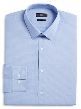 Micro Solid Slim Fit Dress Shirt