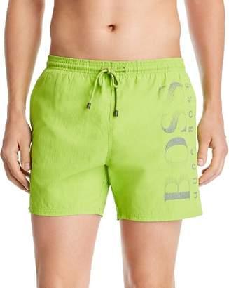 BOSS Logo-Print Swim Shorts