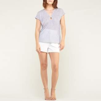 Le Temps Des Cerises Mila Striped V-Neck T-Shirt