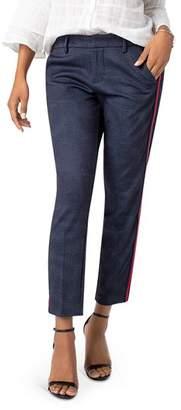 Liverpool Kelsey Tuxedo Stripe Slim Ankle Pants