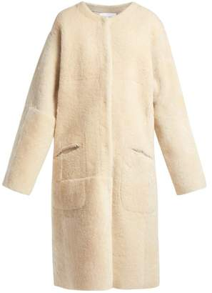 Raey Long Line Shearling Coat - Womens - Ivory